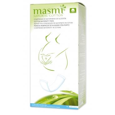 Pôrodnické (materské) vložky z prírodnej bavlny Masmi, 10 ks