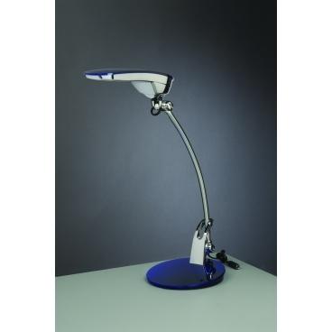 Ayako, stolná lampa, modrá, 7W, LED