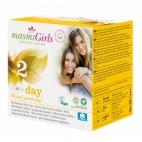 Masmi GIRLS ultratenké vložky z  organickej bavlny DAY s krídielkami, 10 ks