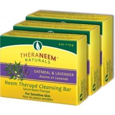 Nimbové mydlo s ovsom a levandulovým olejom - Thera Neem Oatmeal Lavander Soap